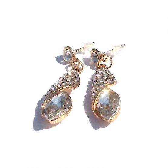 Oorbel Crystal / bijoux / formeel / strass / wit