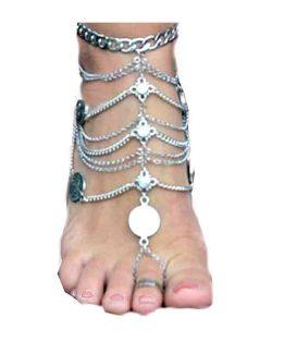 Enkelband Groot / bijoux / accessoires / zilverkleurig