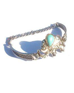 Kleine Dombo Armband / boho - bohemian / zilver - turquoise