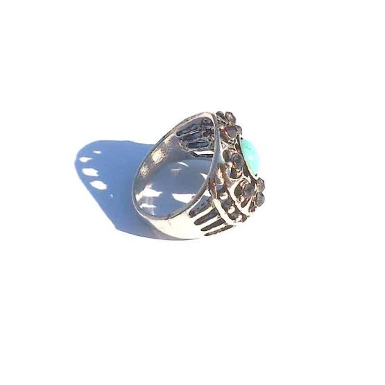 Big Boho Silver / model3 / bohemian bijoux / zilverkleurig - turquoise