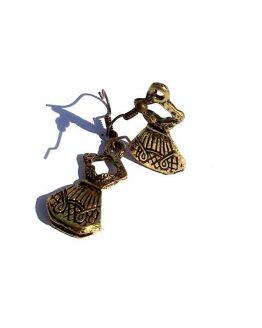 Oorbel Jurkje / bijoux / haakje / bronskleurig