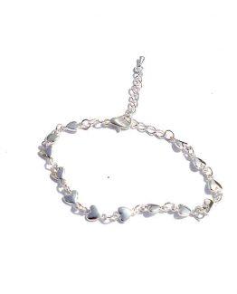Armbandje Hearts / bijoux / lief / zilverkleurig