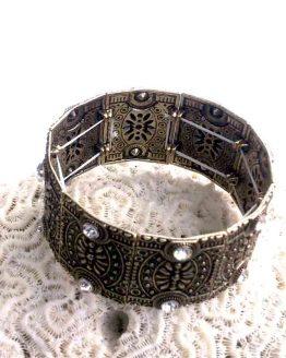 Copper Manchet Armband / bijoux / koper-bronskleurig / strass