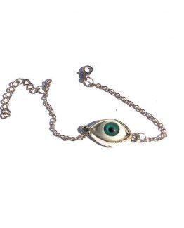 Evil Eye Armband / bijoux / boho - bohemian / zilver