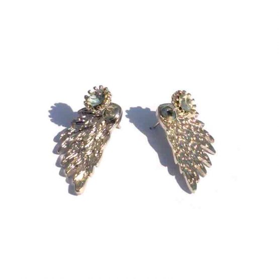 Oorbel Wings / bijoux / bling-bling / strass / zilver