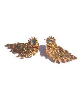 Oorbel Wings / bijoux / bling-bling / strass / goud
