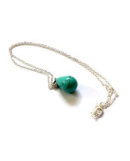 turquoise pendant/bijoux/zilver-blauw