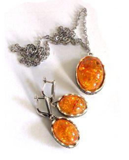 Ketting Baltic Amber / Bijoux -Natuurlijk / geel-oranje