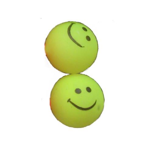 smiley oorbellen / bijoux - grappig / stekertje / geel