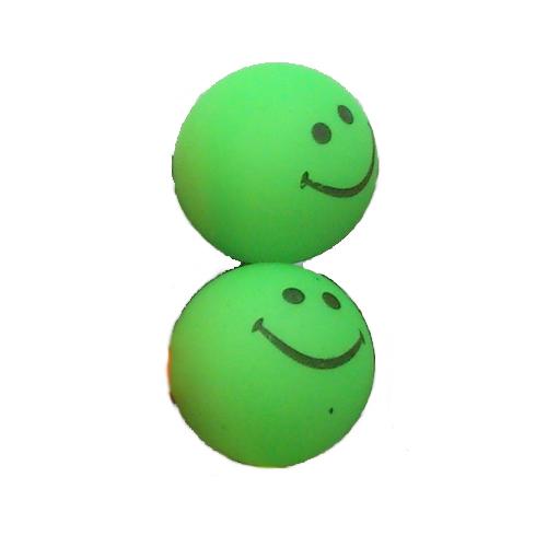 smiley oorbellen / bijoux - grappig / stekertje / groen