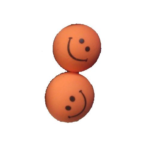 smiley oorbellen / bijoux - grappig / stekertje / oranje1