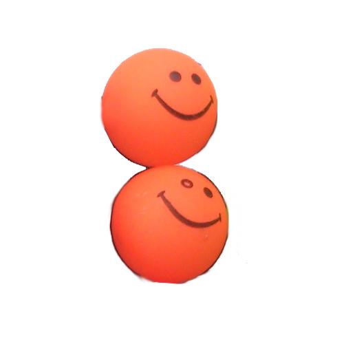 smiley oorbellen / bijoux - grappig / stekertje / oranje2