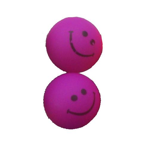 smiley oorbellen / bijoux - grappig / stekertje / paars