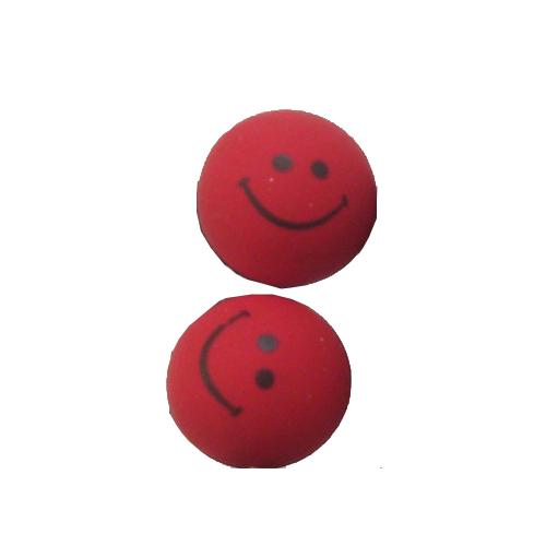 smiley oorbellen / bijoux - grappig / stekertje / rood