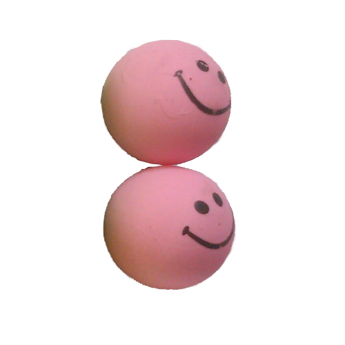 smiley oorbellen / bijoux - grappig / stekertje / roze