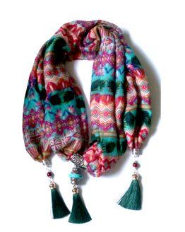 Boho Shawl Green / accessoires / meerkleurig
