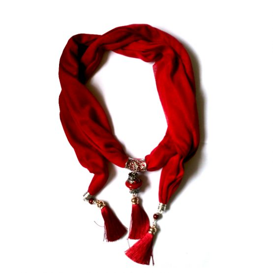 Shawl Fancy Red / accessoires / rood - goud