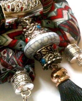 Boho Shawl Black / accessoires / zwart - meerkleurig