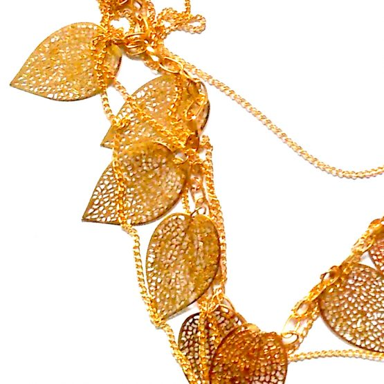 Ketting Autumn Leaves / bijoux / goudkleur